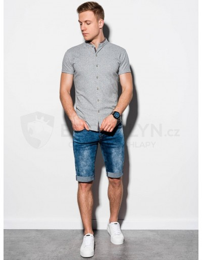Men's shirt with short sleeves K543 - grey