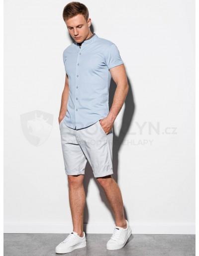 Pánská košile s krátkým rukávem K543 - modrá
