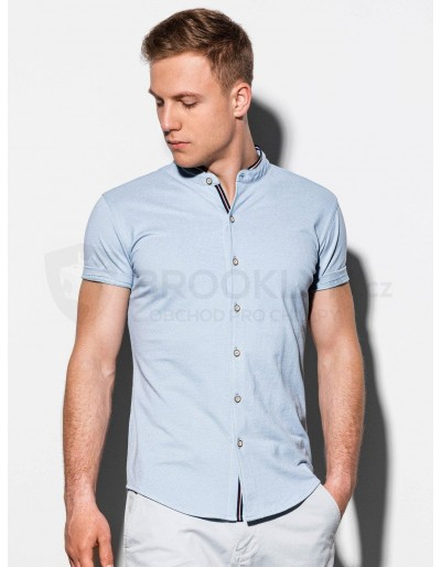 Men's shirt with short sleeves K543 - blue