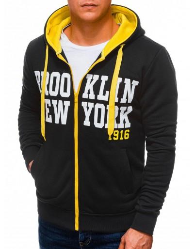Men's zip-up sweatshirt B1250 - black