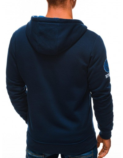 Men's zip-up sweatshirt B1250 - navy