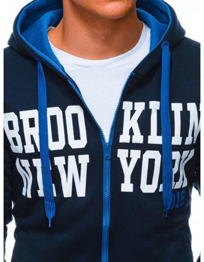Men's zip-up sweatshirt B1250 - navy
