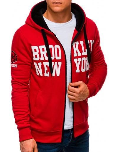Men's zip-up sweatshirt B1250 - red