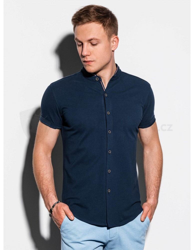 Pánská košile s krátkým rukávem K543 - námořnická