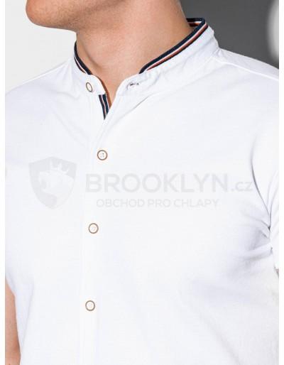 Men's shirt with short sleeves K543 - white