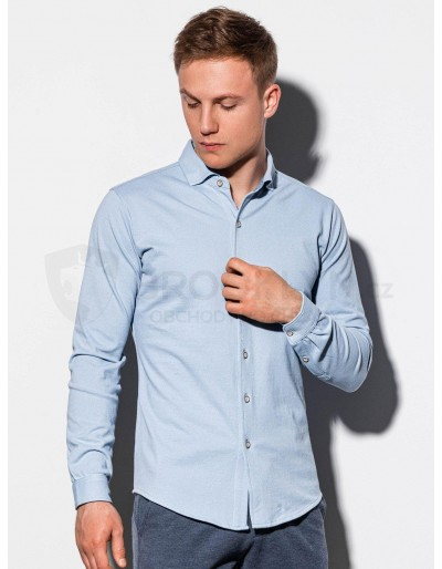 Pánská košile s dlouhým rukávem K540 - modrá