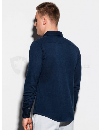 Men's shirt with long sleeves K540 - navy