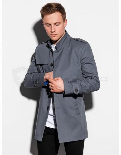 Pánský podzimní kabát C269 - šedý