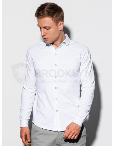Men's shirt with long sleeves K540 - white