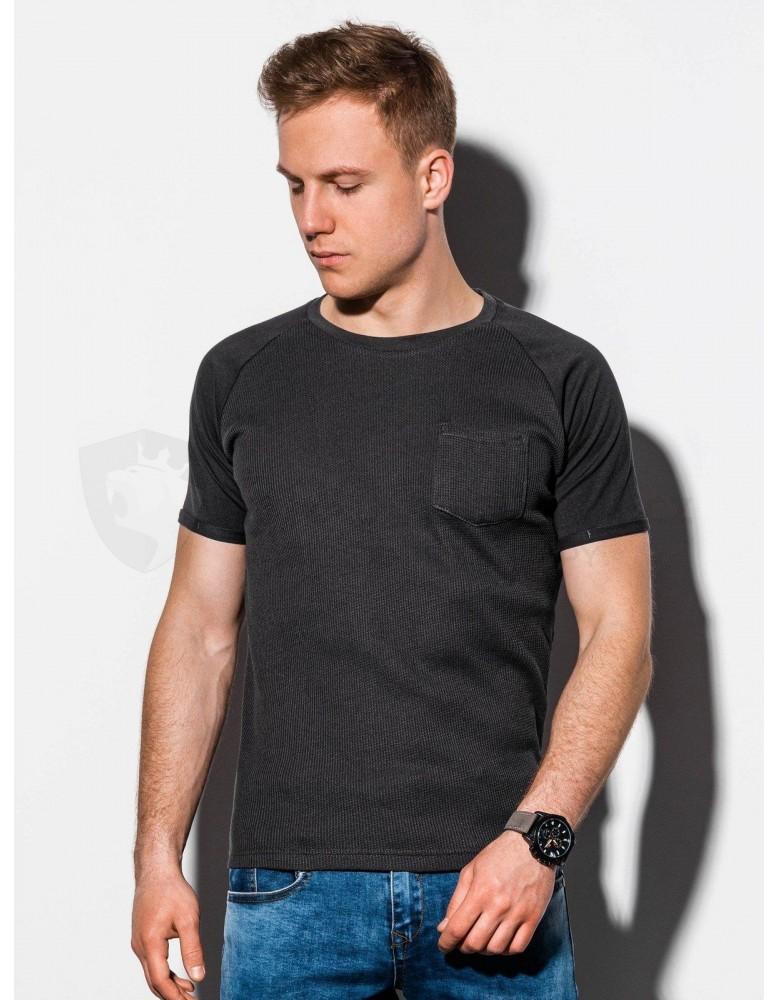 Pánské obyčejné tričko S1182 - černé