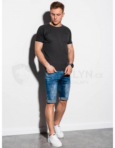 Men's plain t-shirt S1182 - black