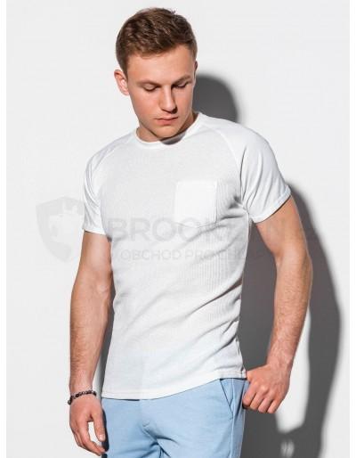 Pánské obyčejné tričko S1182 - bílé