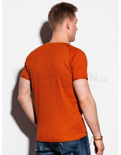Men's plain t-shirt S1182 - brick