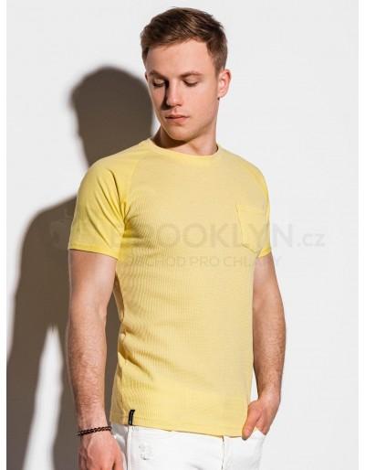 Pánské obyčejné tričko S1182 - žluté