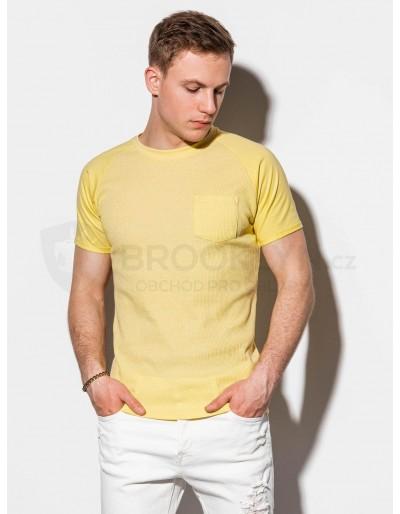 Men's plain t-shirt S1182 - yellow