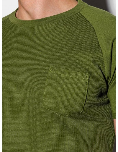 Men's plain t-shirt S1182 - olive