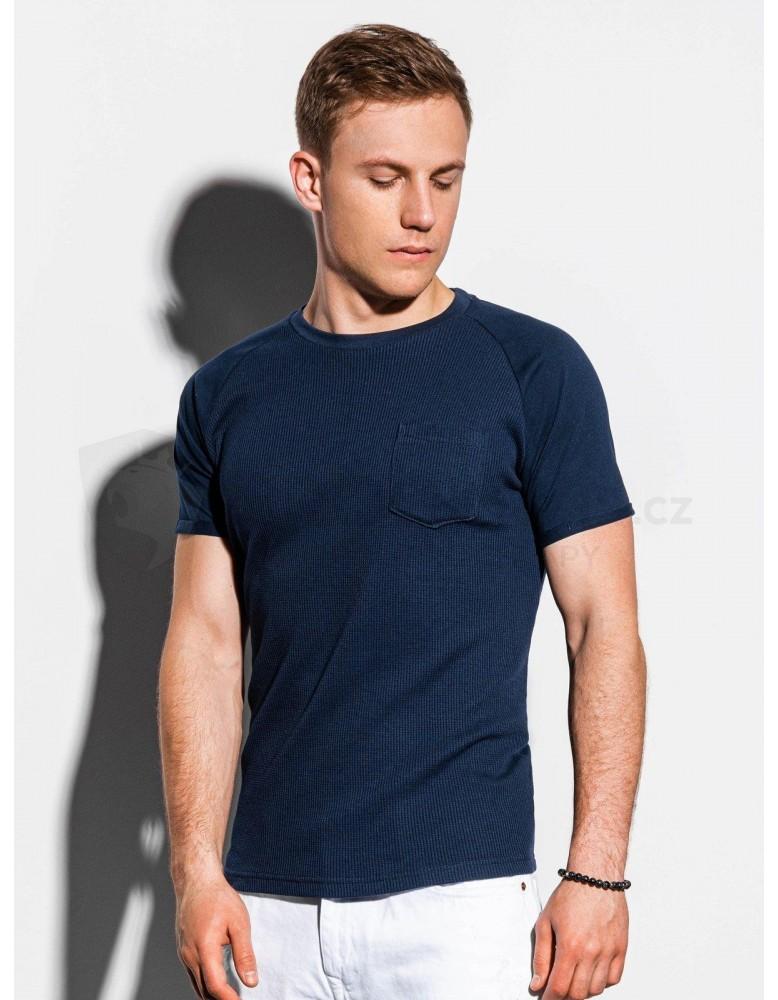 Pánské obyčejné tričko S1182 - námořnictvo