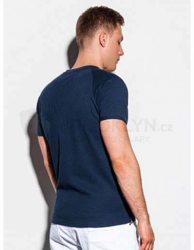 Men's plain t-shirt S1182 - navy