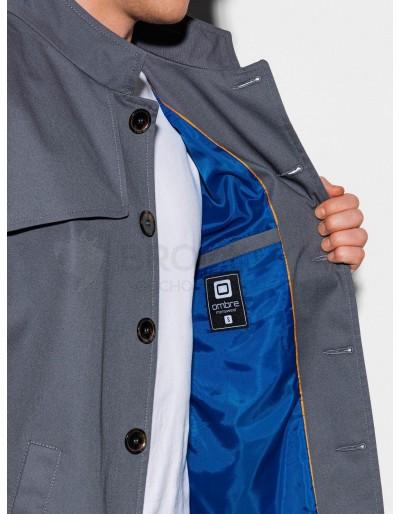 Men's autumn coat C269 - grey