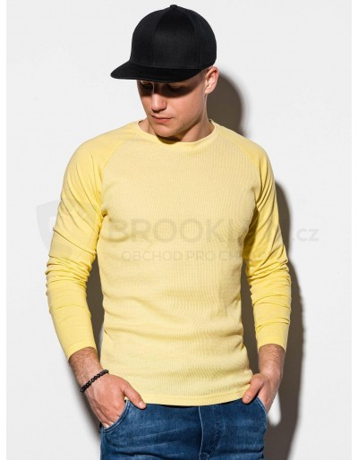 Men's plain longsleeve L119 - yellow