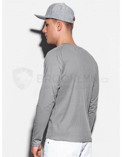 Men's plain longsleeve L119 - grey