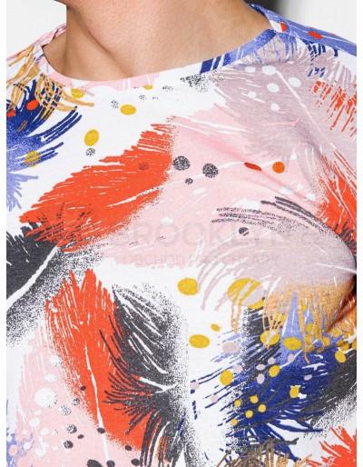 Men's printed t-shirt S1294 - white