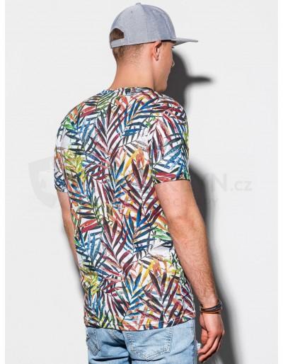 Men's printed t-shirt S1290 - white