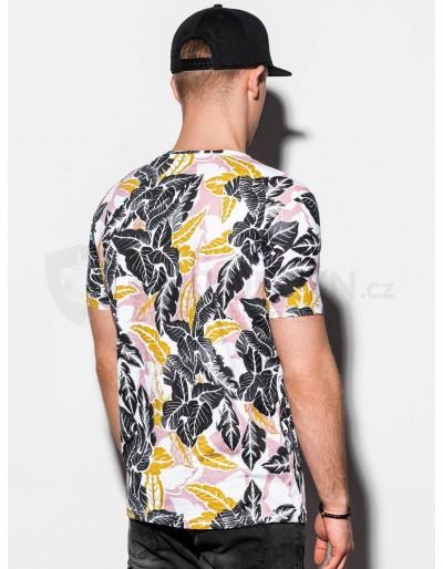 Men's printed t-shirt S1295 - white