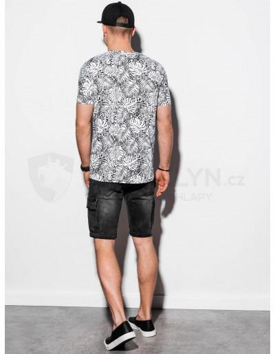 Men's printed t-shirt S1296 - white