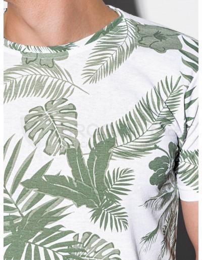 Men's printed t-shirt S1297 - green