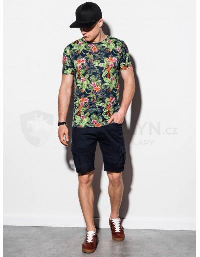 Men's printed t-shirt S1289 - black