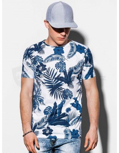 Men's printed t-shirt S1297 - navy