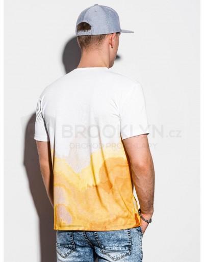 Men's printed t-shirt S1190 - white
