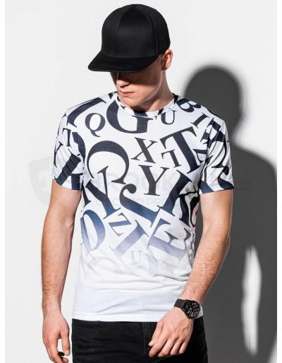 Pánské tričko s potiskem S1192 - bílé