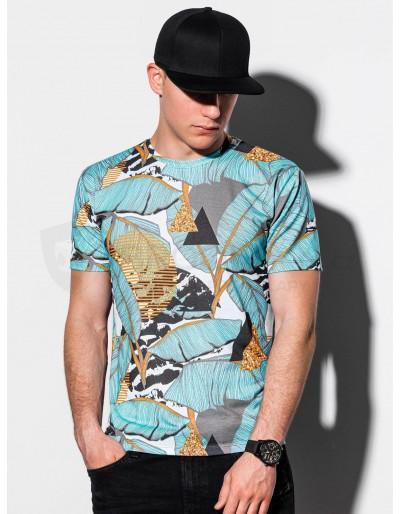 Pánské tričko s potiskem S1196 - světle modré