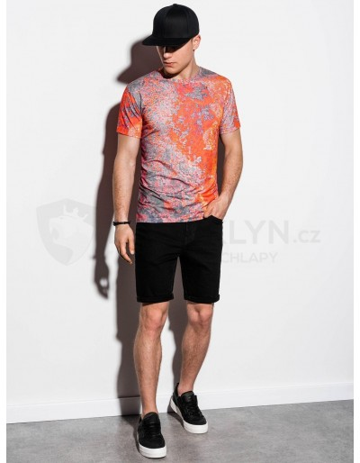 Men's printed t-shirt S1223 - red