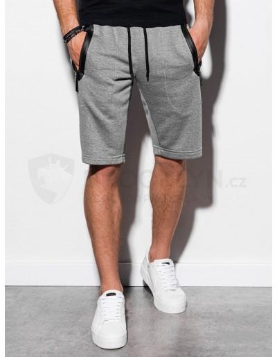 Men's sweatshorts W239 - grey melange
