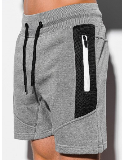 Men's sweatshorts W240 - grey melange