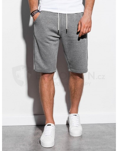 Men's sweatshorts W241- grey melange