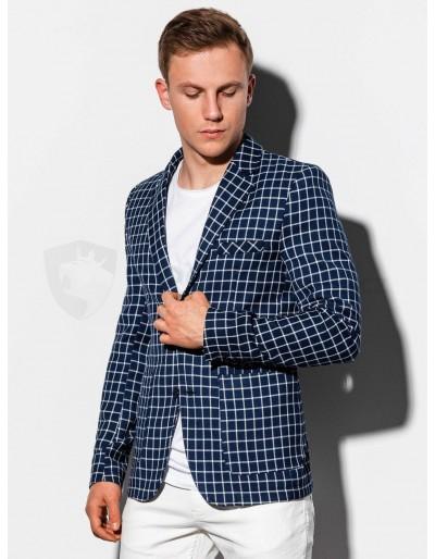Men's casual blazer jacket M161 - navy