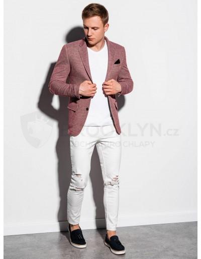 Men's casual blazer jacket M162 - dark red