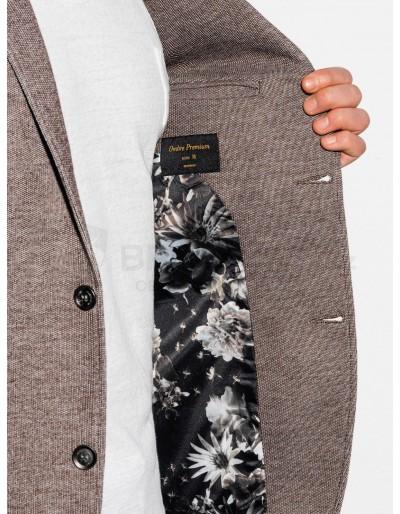 Men's casual blazer jacket M162 - brown