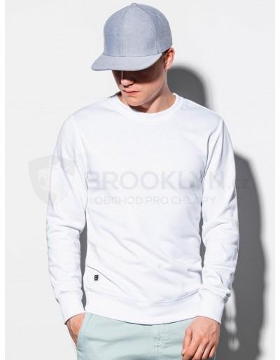 Men's plain sweatshirt B978 - white