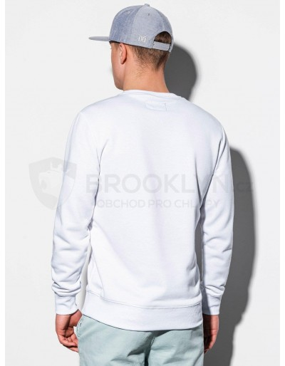Men's plain sweatshirt B978 - white