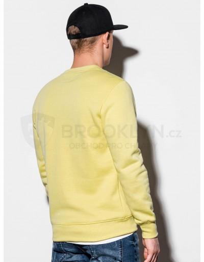 Men's plain sweatshirt B978 - light yellow