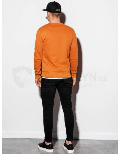 Men's plain sweatshirt B978 - camel