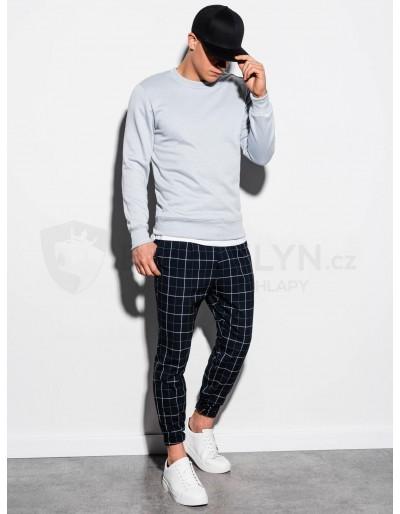 Men's plain sweatshirt B978 - silver