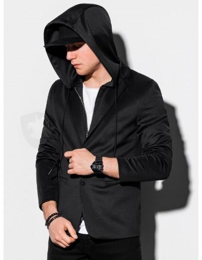 Pánská ležérní bunda s kapucí s kapucí M156 - černá