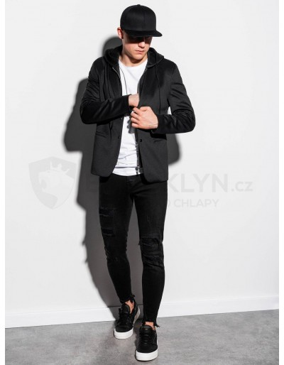 Men's casual hooded blazer jacket M156 - black