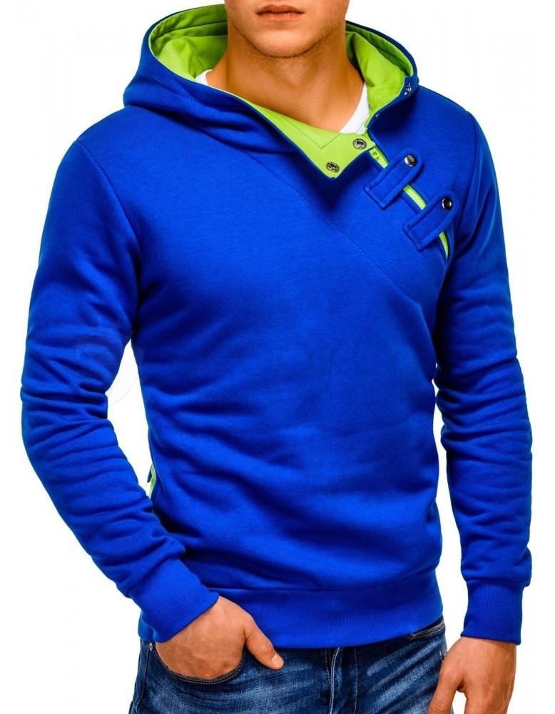 Pánská mikina PACO - modrá / zelená